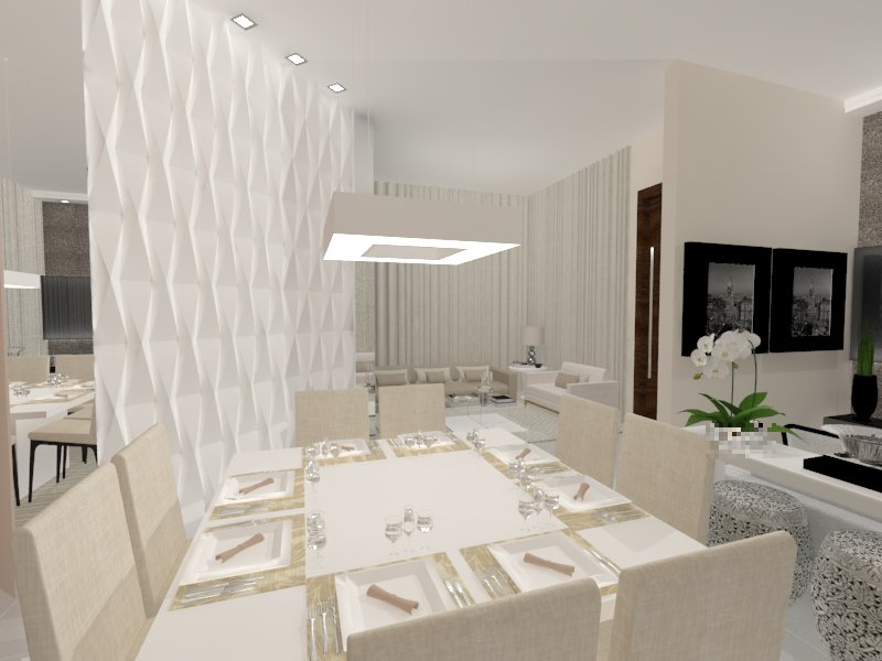 Sala de Jantar por Design Nara Lyrio - Origami Branco