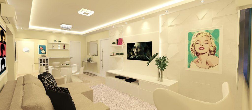 Sala por Rafael Yasumoto - Scaleno Branco