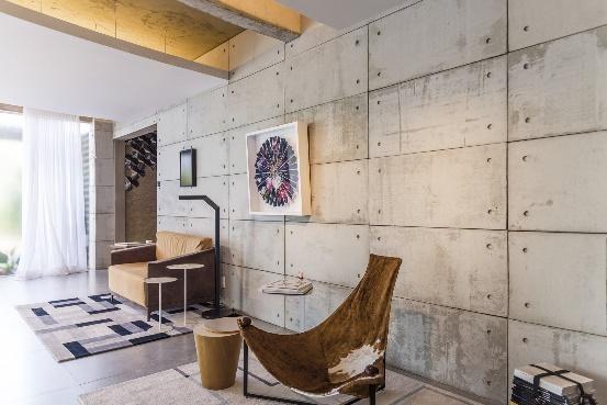 Living projetado pelo arquiteto Clay Rodrigues, com produto Apparente da Castelatto
